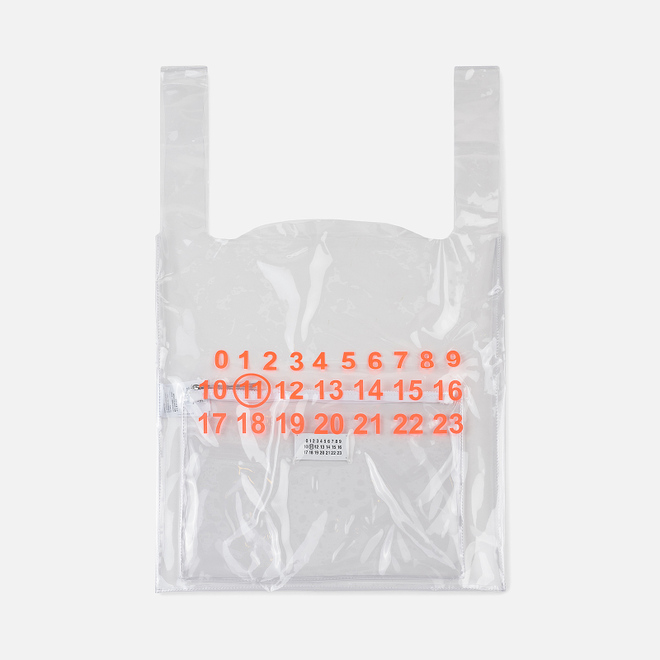 Сумка Maison Margiela 11 Shopping Trasparent/Orange Fluo