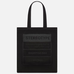 Сумка Maison Margiela 11 Stereotype Logo Printed Canvas Black/Black