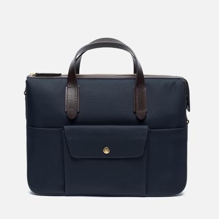 Mismo MS Briefcase Bag Navy/Dark Brown