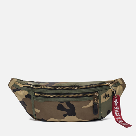 Сумка на пояс Alpha Industries Survival Woodland Camo
