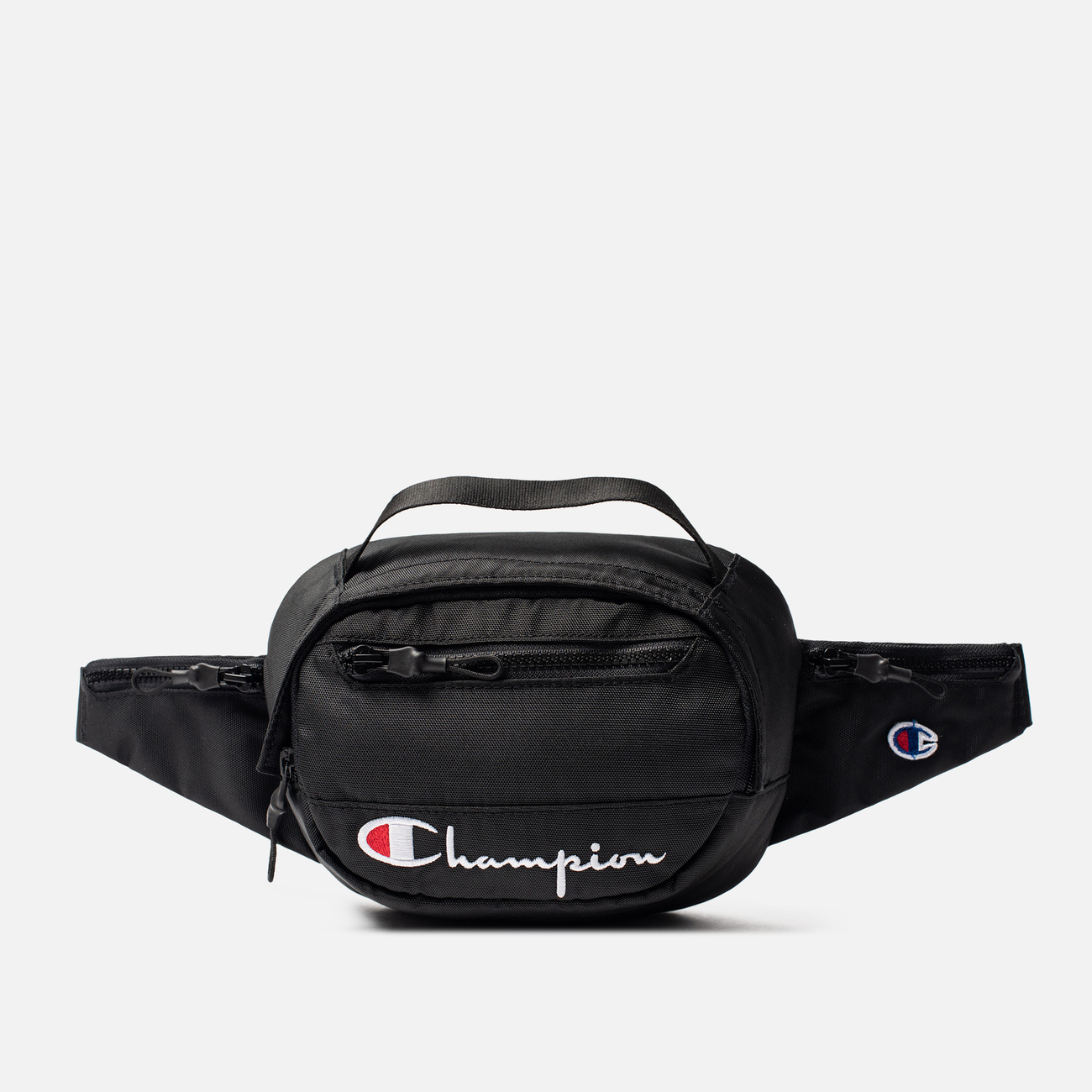 Сумка на пояс Champion Reverse Weave Script Logo Pocket Black Beauty