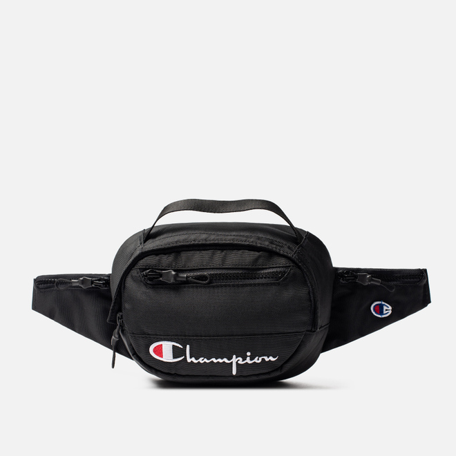 Сумка на пояс Champion Reverse Weave Script Logo Pocket Black Beauty