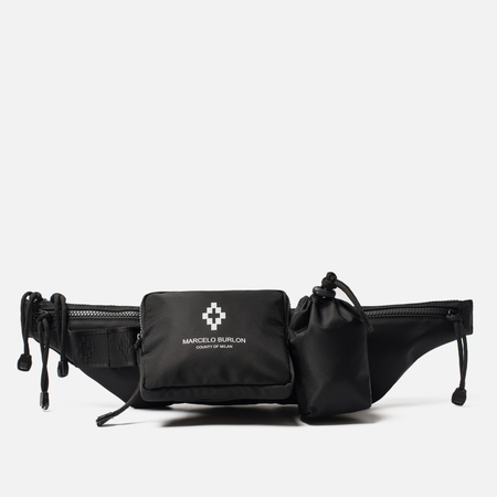 Сумка на пояс Marcelo Burlon Cross Fanny Pack Black/White