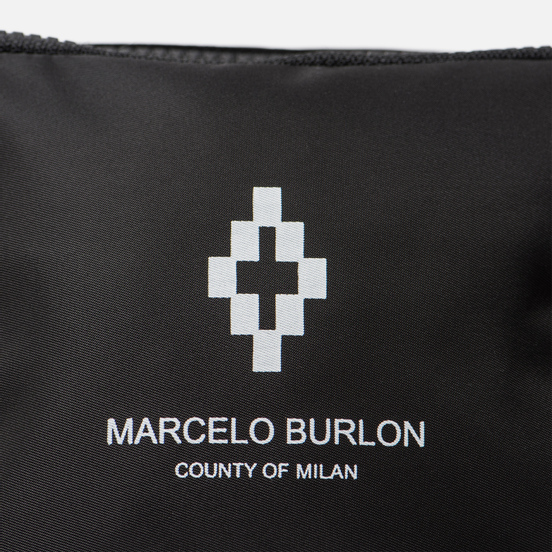 Сумка на пояс Marcelo Burlon Cross Fanny Pack Black/White