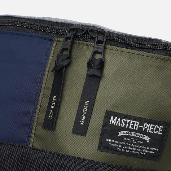 Сумка на пояс Master-piece Rush Navy/Olive
