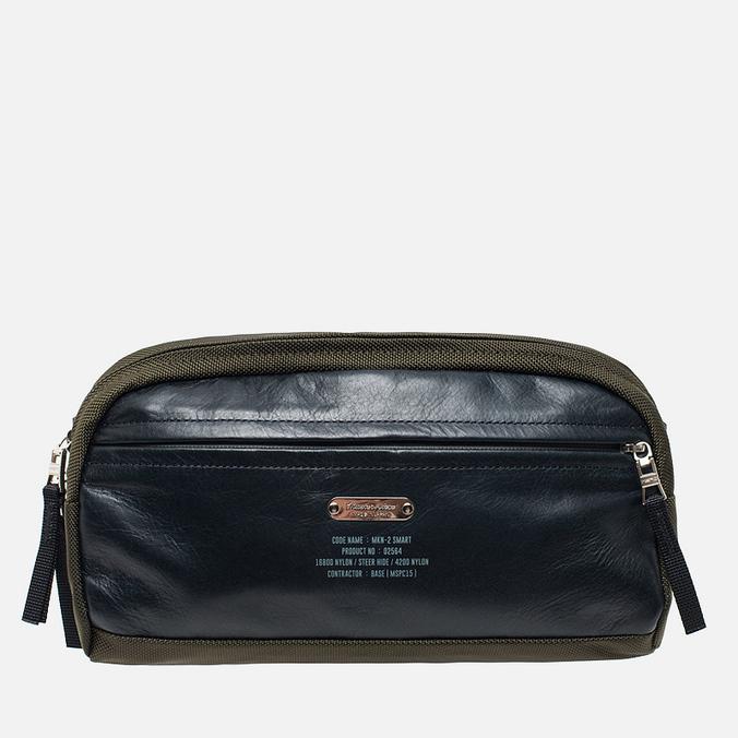 Сумка на пояс Master-piece Spec Nylon Leather Khaki