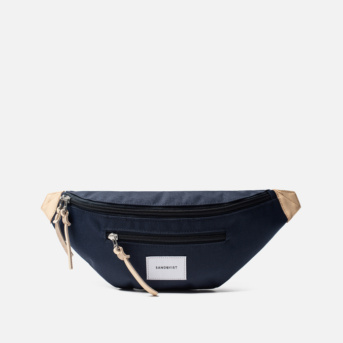 Сумка на пояс Sandqvist Aste 3L Navy/Natural Leather