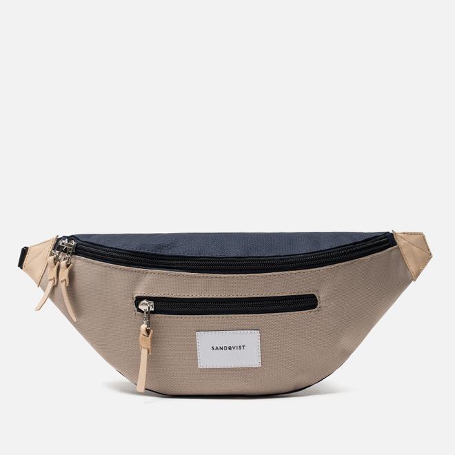 Сумка на пояс Sandqvist Aste 3L Multi Beige/Navy/Natural Leather