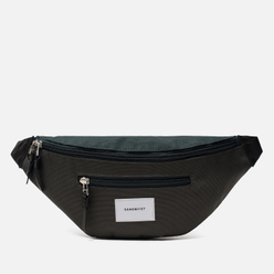 Сумка на пояс Sandqvist Aste 3L Multi Deep Green/Dark Grey/Black Leather