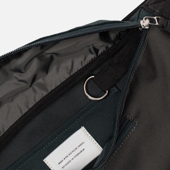 Сумка на пояс Sandqvist Aste 3L Multi Deep Green/Dark Grey/Black Leather