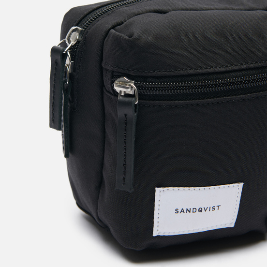Сумка на пояс Sandqvist Paul 2L Black/Black Leather