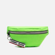Сумка на пояс Tommy Jeans Logo Tape Bumbag Crinkle Green Gecko фото- 0