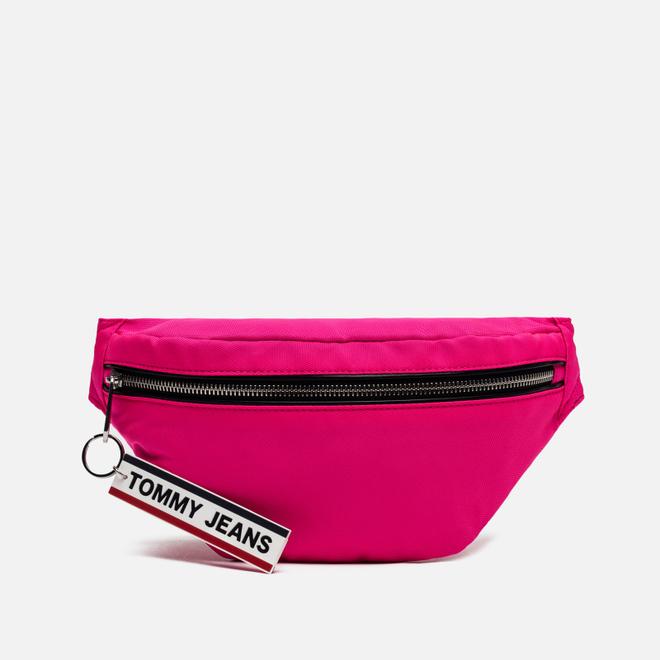 Сумка на пояс Tommy Jeans Logo Tape Bumbag Nylon Pink Glo