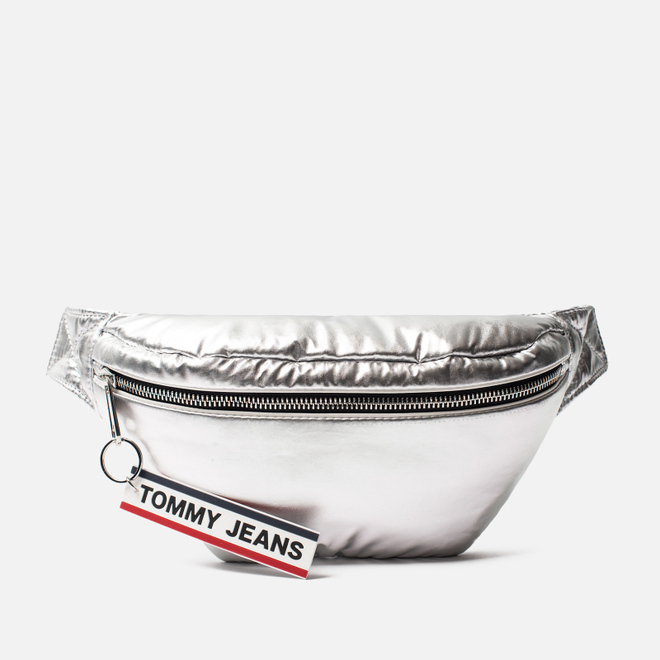 Сумка на пояс Tommy Jeans Logo Tape High Shine Silver