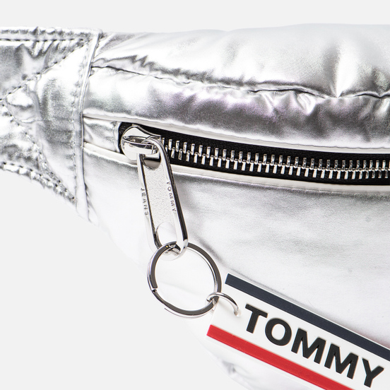 Сумка на пояс Tommy Jeans Logo Tape High Shine Silver