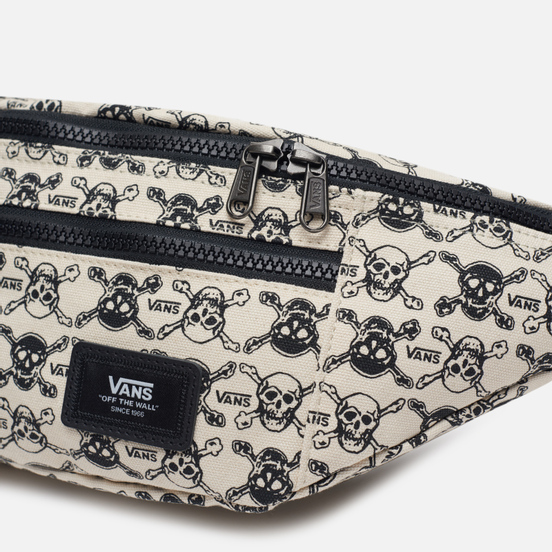 Сумка на пояс Vans Ward Cross Body P Skulls White/Black