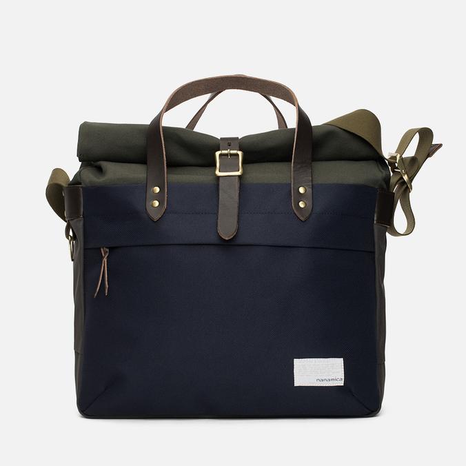 Nanamica Cordura Briefcase Bag Khaki/Navy