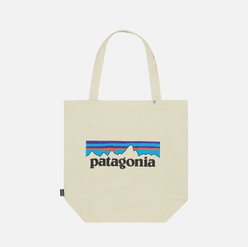 Сумка Patagonia Market Tote Logo Bleached Stone
