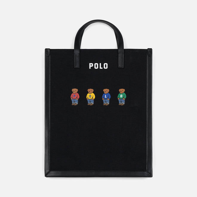 Сумка Polo Ralph Lauren Bear Canvas Large Black