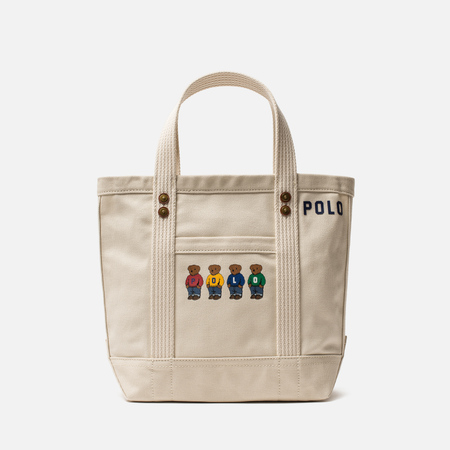 Сумка Polo Ralph Lauren Bear Canvas Tote Medium Ecru