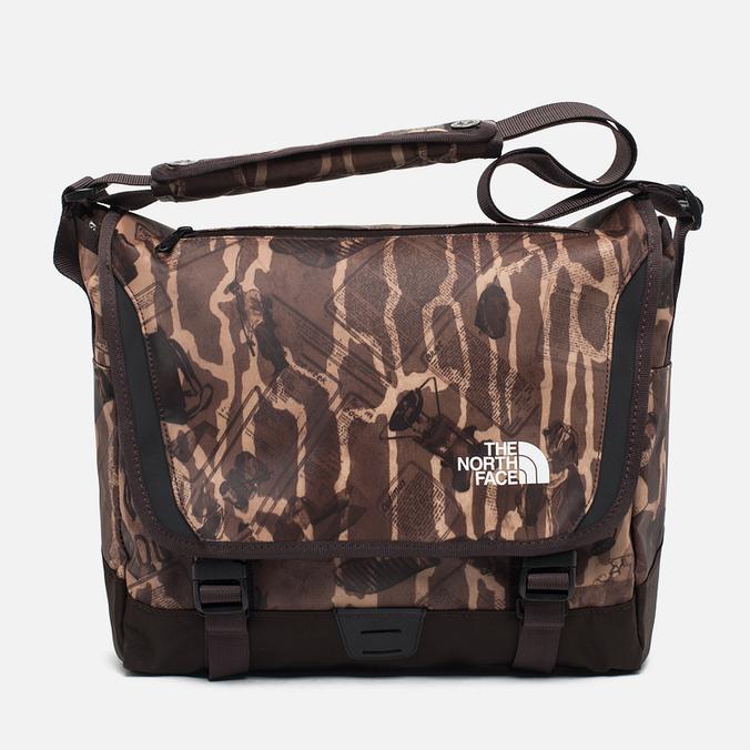 The North Face Base Camp Messenger Bag S Brunette Brown Camo