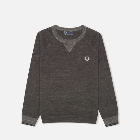 Fred Perry Budding Yarn Tipped Children's Sweater Vintage Graphite Marl