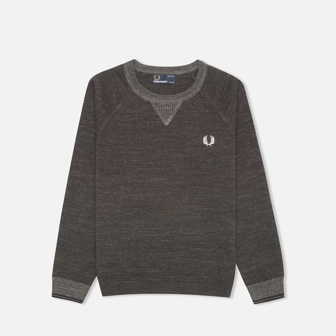 Детский свитер Fred Perry Budding Yarn Tipped Vintage Graphite Marl