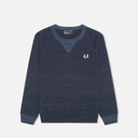 Fred Perry Budding Yarn Tipped Children's Sweater Vintage Navy Marl photo- 0