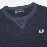 Fred Perry Budding Yarn Tipped Children's Sweater Vintage Navy Marl photo- 1