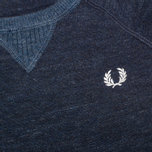 Fred Perry Budding Yarn Tipped Children's Sweater Vintage Navy Marl photo- 2