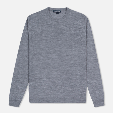 Aquascutum Rolfe Crew Neck Sweater Grey