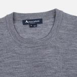 Aquascutum Rolfe Crew Neck Sweater Grey photo- 1