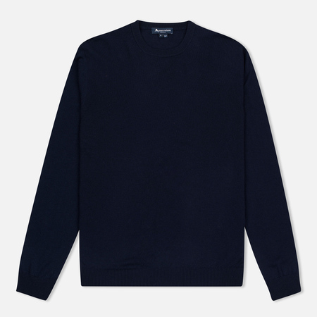 Aquascutum Rolfe Crew Neck Sweater Navy