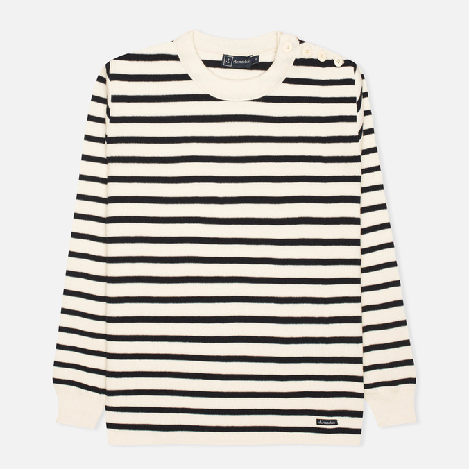 Мужской свитер Armor-Lux Fouesnant Striped Nature/Rich Navy