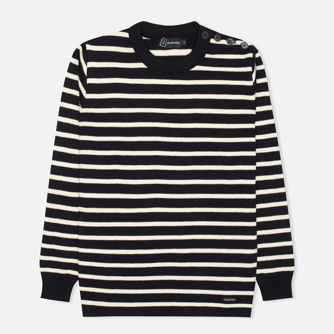 Мужской свитер Armor-Lux Butto Fouesnant Striped Rich Navy/Nature