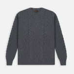 Мужской свитер Barbour Barnard Crew Neck Storm Grey фото- 0