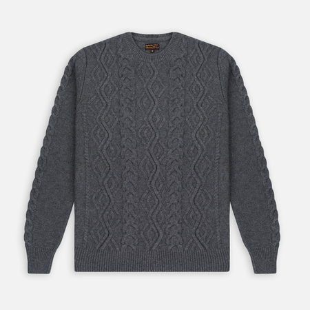 Мужской свитер Barbour Barnard Crew Neck Storm Grey