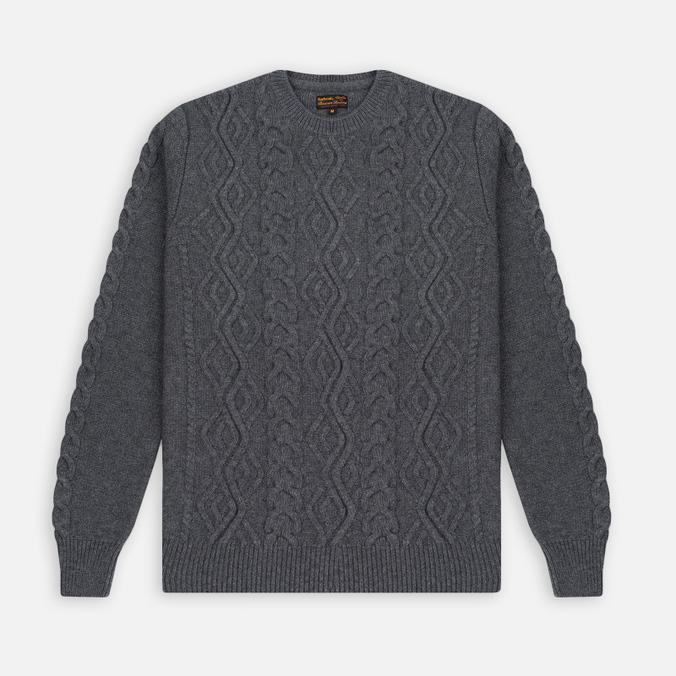 Barbour Barnard Crew Neck Men's Sweater Storm Grey