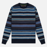 Мужской свитер Barbour Caistown Fair Isle Navy фото- 0