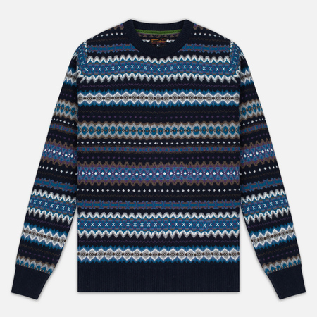 Мужской свитер Barbour Caistown Fair Isle Navy