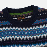 Мужской свитер Barbour Caistown Fair Isle Navy фото- 1