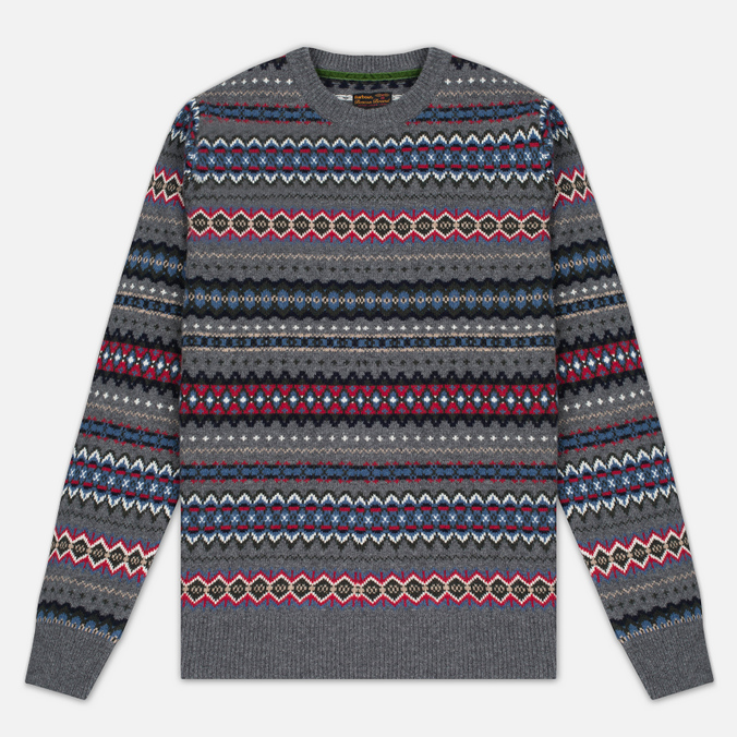 Мужской свитер Barbour Caistown Fair Isle Storm Grey