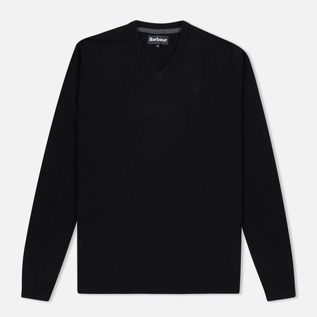 Мужской свитер Barbour Essential Lambswool V-Neck Black