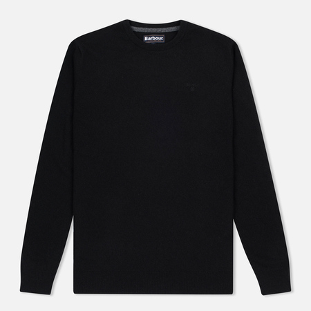 Мужской свитер Barbour Essential Lambswool Crew Neck Black