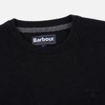 Мужской свитер Barbour Essential Lambswool Crew Neck Black фото- 1