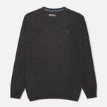Мужской свитер Barbour Essential Lambswool Crew Neck Charcoal фото- 0