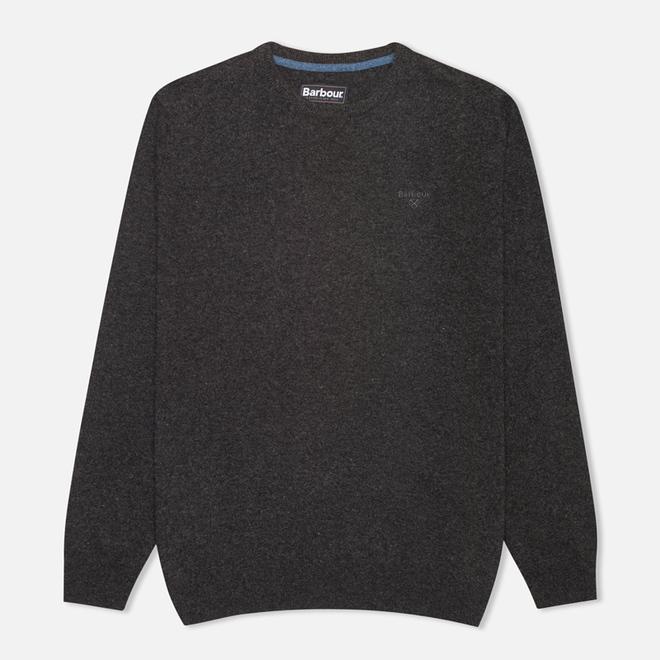 Мужской свитер Barbour Essential Lambswool Crew Neck Charcoal
