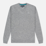 Мужской свитер Barbour Essential Lambswool V-Neck Grey Marl фото- 0