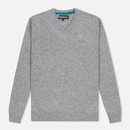 Мужской свитер Barbour Essential Lambswool V-Neck Grey Marl