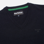 Мужской свитер Barbour Essential Lambswool V-Neck Navy фото- 1
